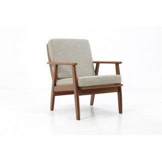 Danish Teak Easy Chair in Grey, 1960s for sale at