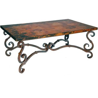 Dark wrought iron coffee table — Coffee tables ideas