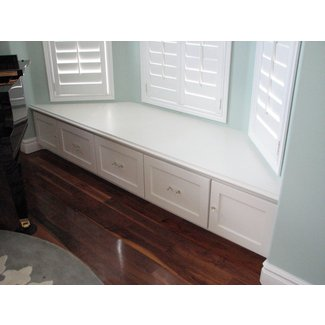 Decoration. Bay Window Benches With Storage And Locker ...