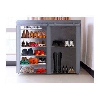Deluxe Combinable Shoe Rack with Cover @ Crazy Sales -