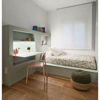 Desk-Embedded Bed Furniture : small bedroom furniture