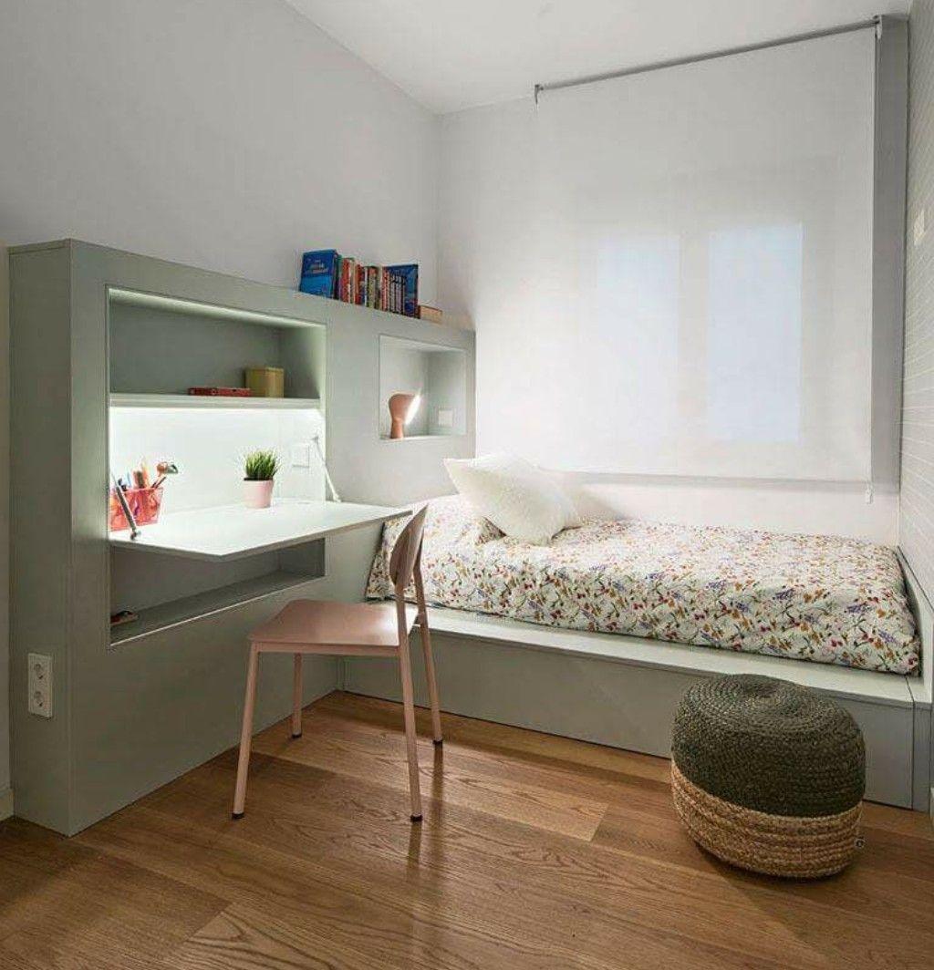 Desk Embedded Bed Furniture : Small Bedroom Furniture