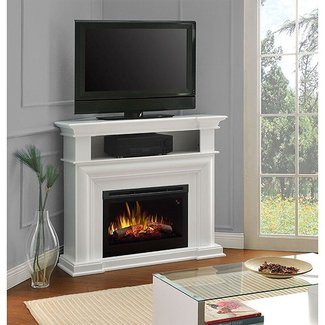 Dimplex Colleen Corner TV Stand with Electric Fireplace in ...