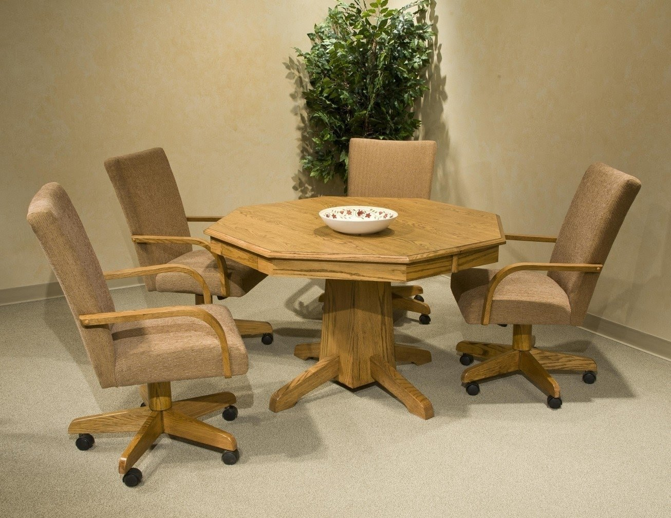Dinette Chairs With Casters And Arms. Make In Functional .