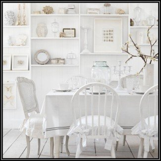 Dining Room Chair Slipcovers Shabby Chic |