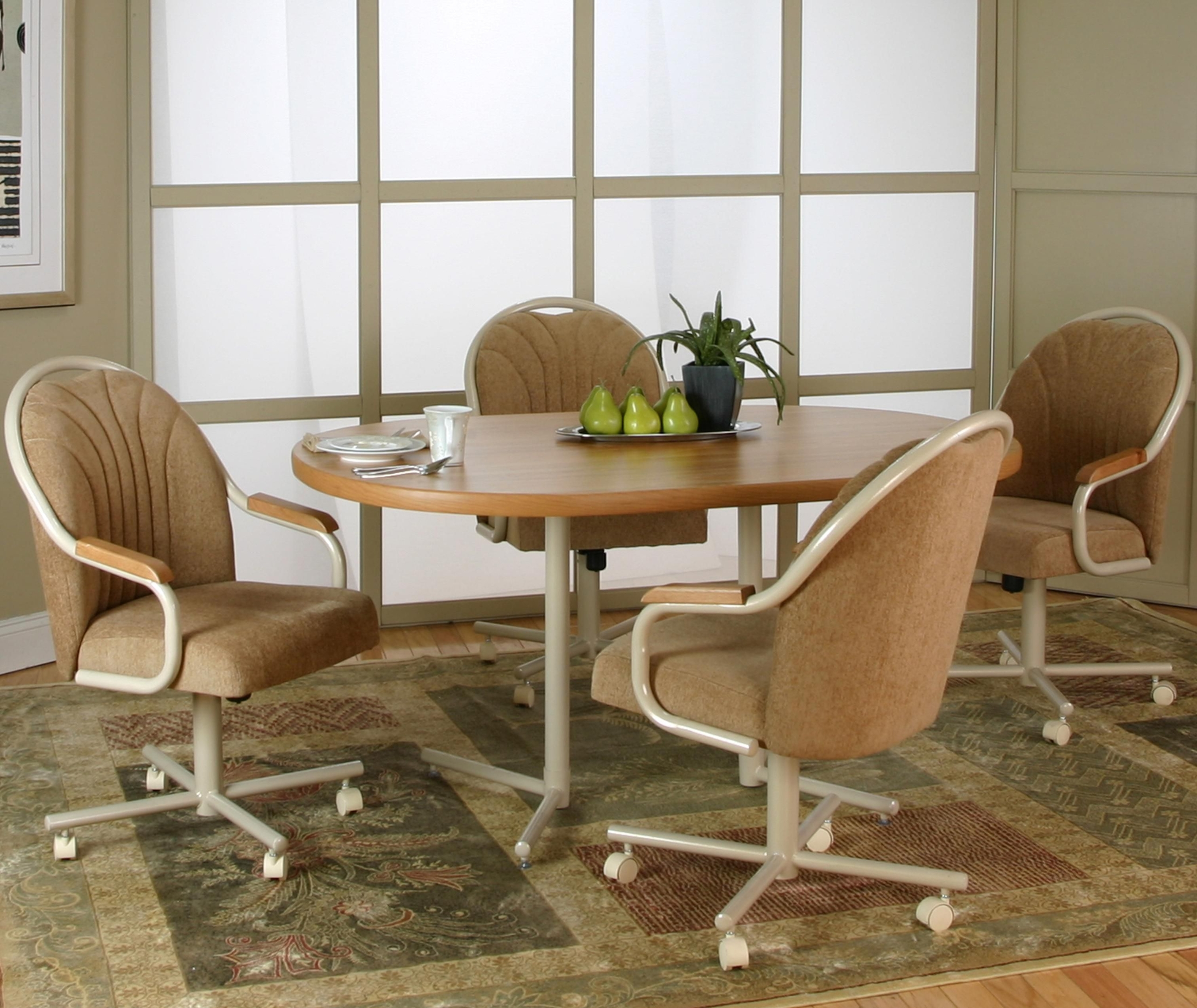 dining room table chairs with wheels> OFF 9