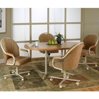 dining room chairs with casters | Home Design Ideas