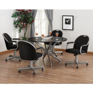 Dining Room Chairs With Rollers Dining Room Table With ...