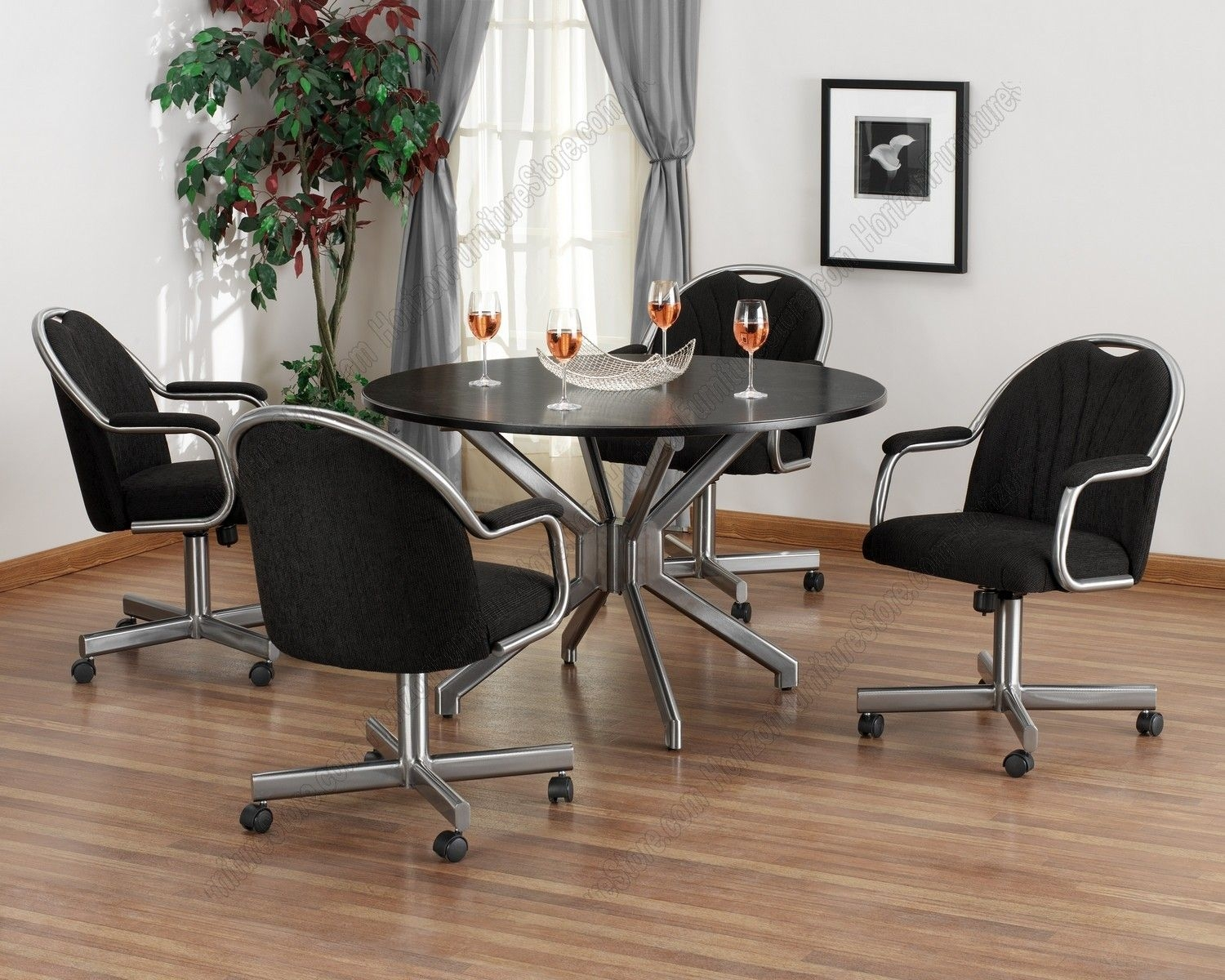 Dining Room Chairs With Rollers Dining Room Table With .