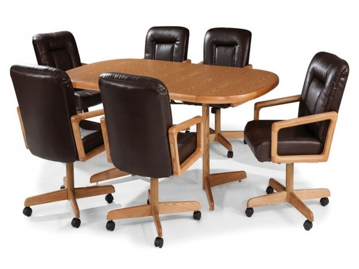 Dining Chairs With Wheels For Elderly, Dining Room Chairs With Wheels