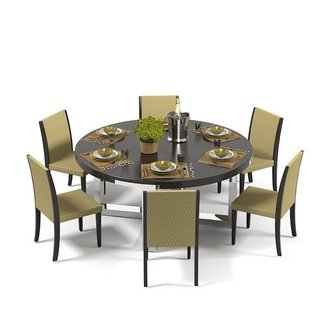 Dining Room : Round Dining Table For 6 Dining Area'
