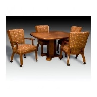 Dining Sets With Chairs On Casters - art and craft
