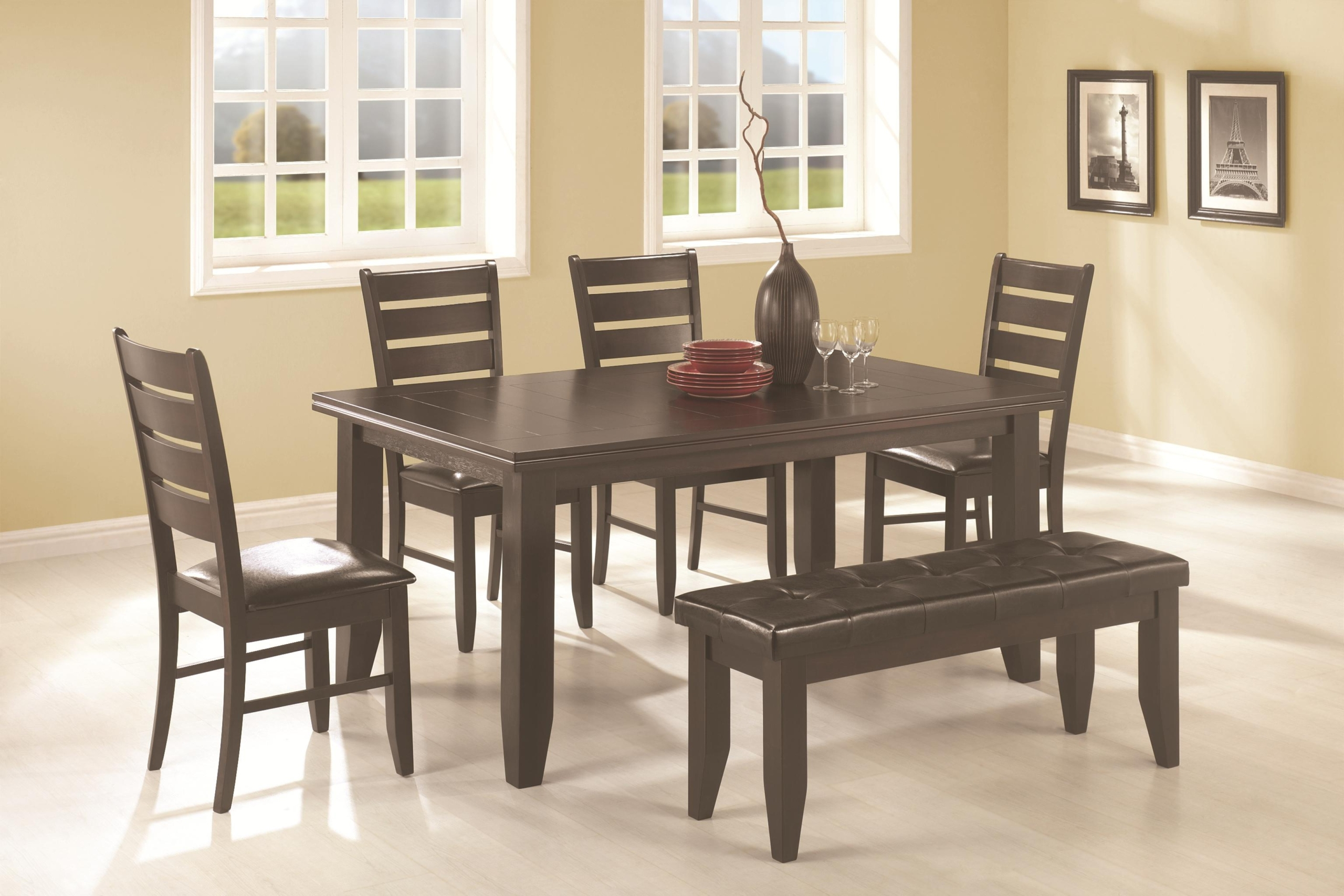 Dining Table: Bench Set Dining Table