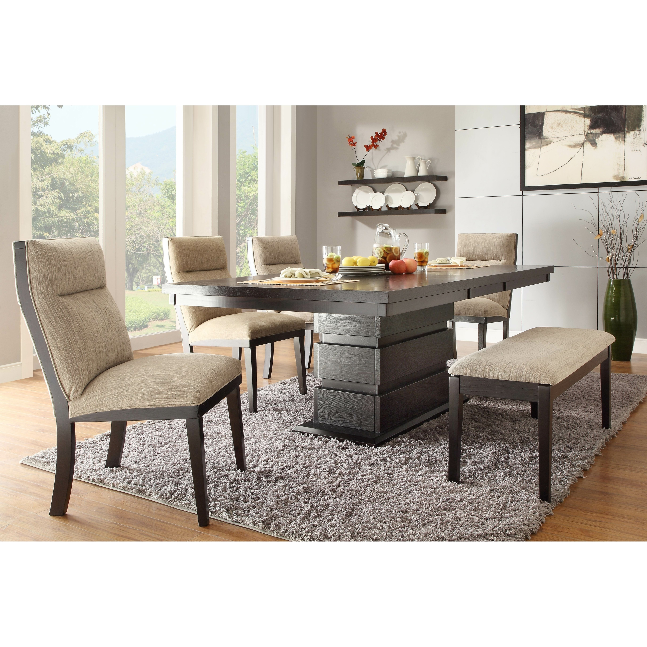 Dining Table: Dining Table Padded Bench
