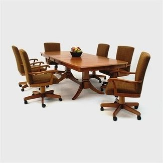 Dining Table Set Caster Chairs