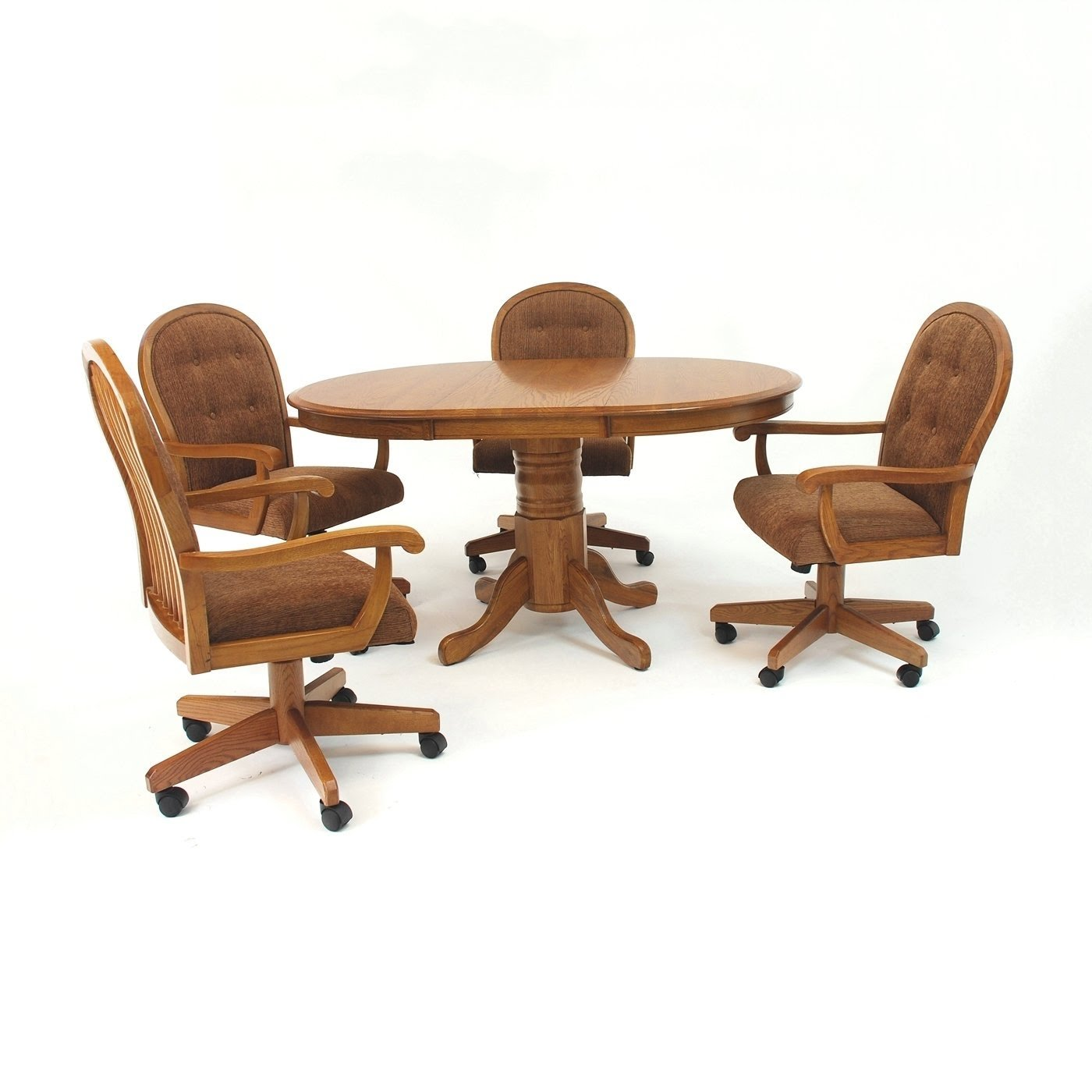 Dining Chairs With Casters You Ll Love, Padded Dining Room Chairs With Casters