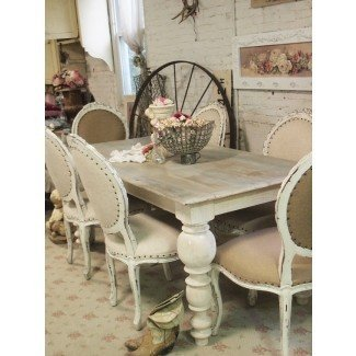 Dining Table: French Shabby Chic Dining Table