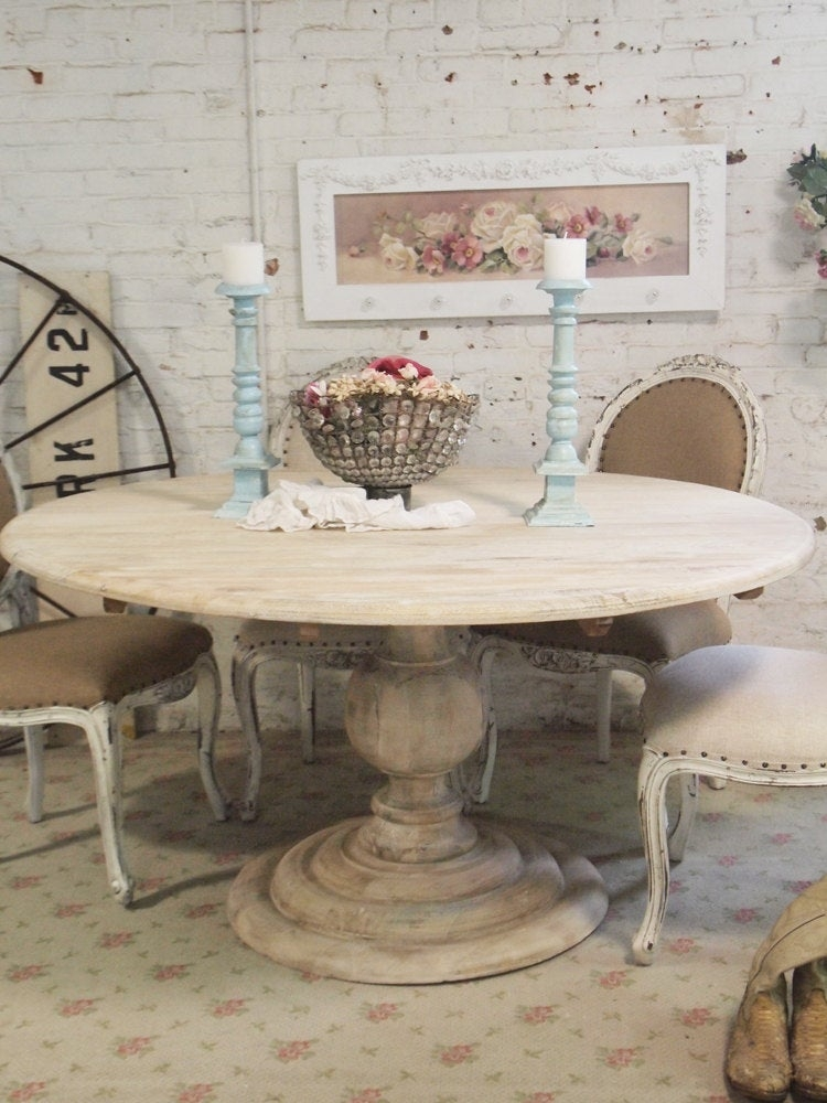 Shabby Chic Dining Table You Ll Love In, Whitewashed Round Dining Table