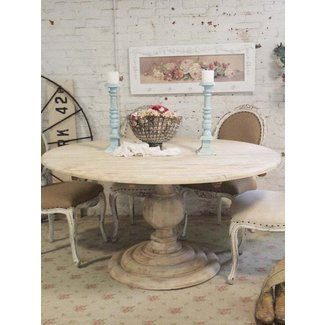 Dining Table: Round Dining Table Shabby Chic