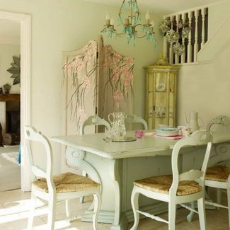 Dining Table: Shabby Chic Willow Dining Table