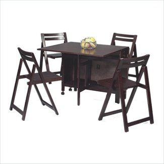 Dining Table: Space Saving Dining Table Set