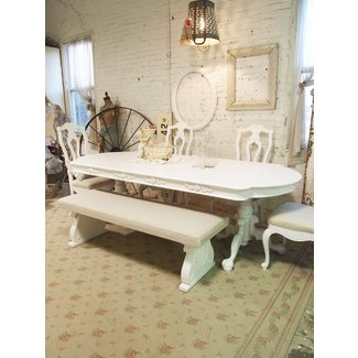 Dining Table: White Shabby Chic Dining Table