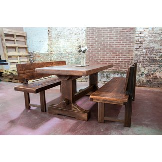 Dining Table with Bench Black. Furniture |