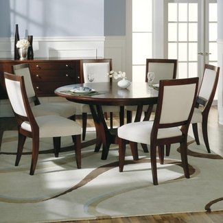 Dinning room. Round Dining Table For 6 - Home Design