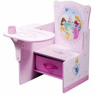 Disney - Princess Desk & Chair with Storage Bin: Toddler