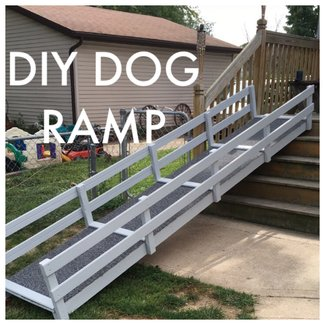 DIY Dog Ramp over stairs Dog ramp Diy dog ramp