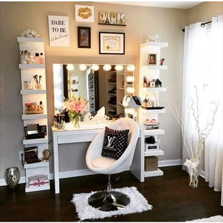 Makeup Vanity Table With Lights Visual Hunt