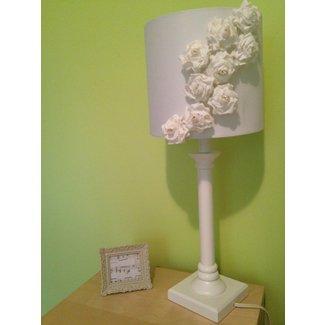 DIY Shabby Chic Floral Lamp Shade | craftandchat