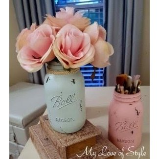 DIY Shabby Chic Mason Jars | My Love of Style