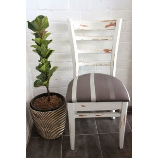 DIY shabby chic/rustic white dining chair | Basil and Chaise