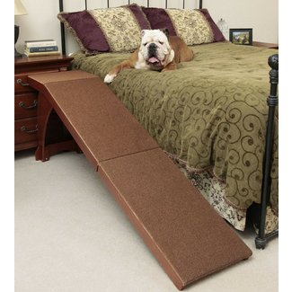 Dog Ramp for Bed Carpeted Surface Grip 25 Inch Easy
