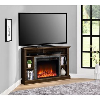 Dorel Overland Electric Fireplace Corner TV Stand |