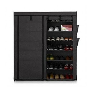 Double Door Shoe Rack Shelf Storage Closet Organizer Cabinet 7 Layer 50 pair