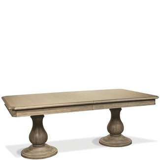 Double Pedestal Dining Table Dining Table Top RV21542
