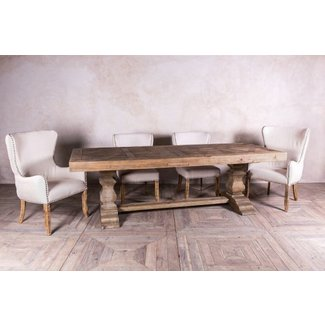 DOUBLE PEDESTAL DINING TABLE RUSTIC PINE | Peppermill ...