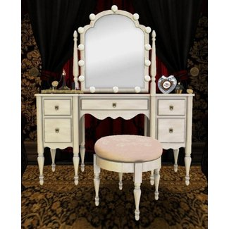 Dressing Room Vanity Table with Light Up Mirror, Perfume ...