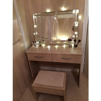 Dressing table mirror lights, make up vanity set vanity ...