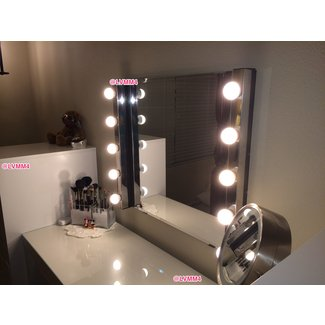 Dressing Table Mirror with Lights Ikea - YouTube
