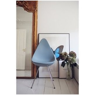 Drop Chromed Legs Chair Fritz Hansen - Milia Shop
