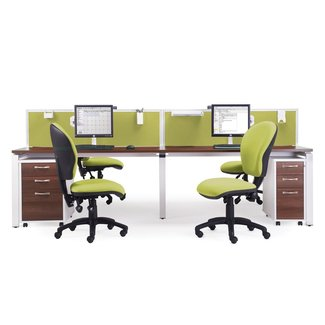 E1212 - 2 Person Bench Desk System - Penningtons Office