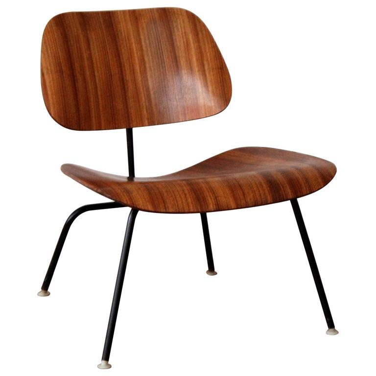Eames LCM Zebra Wood Lounge Chair At 1stdibs
