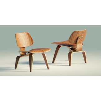 Eames Lounge Chair Wood LCW 3D asset | CGTrader