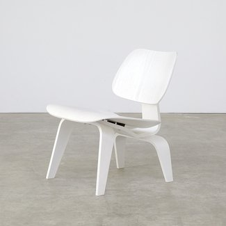 Eames Lounge Chair Wood 'LCW' White Limited Edition for ...