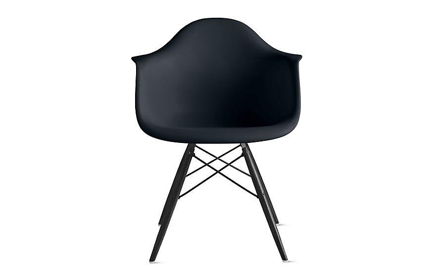 Eames Molded Plastic Armchair Dowel Base   Herman Miller