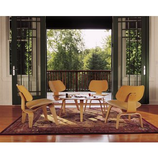 Eames Molded Plywood Lounge Chair Wood Base - Modern Home