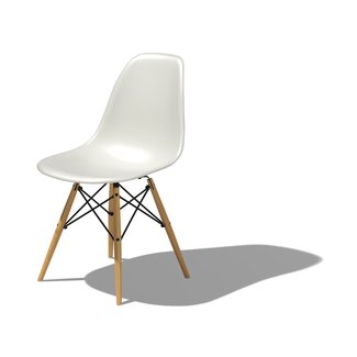 Eames® Molded Plastic Side Chair With Dowel Base ...